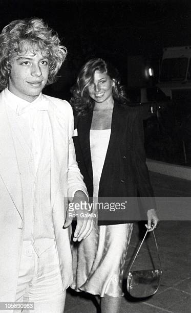 Leif Garrett and Tatum O'Neal during Party Hosted by Rod Stewart at Rod Stewart's Home in Beverly Hills California United States