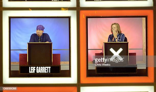 Leif Garrett David Spade during David Spade and CoStars from Paramount Pictures' Dickie Roberts Former Child Star Tape Hollywood Squares at CBS...