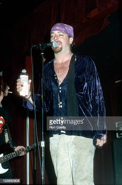 Leif Garrett during Leif Garret Performs With His Band F8 at BB King's Blues Club in New York City New York United States