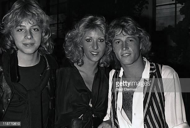 Leif Garrett Fleur Thiemeyer and Andy Gibb at the 'Grease' party in Los Angeles California **EXCLUSIVE**