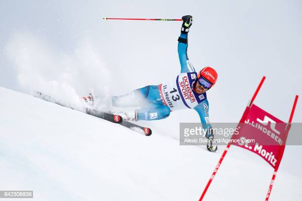 Leif Kristian Haugen of Norway competes during the FIS Alpine Ski World Championships Men's Giant Slalom on February 17 2017 in St Moritz Switzerland