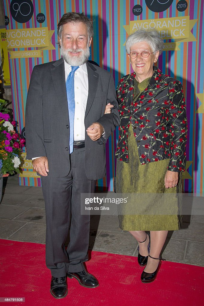 Leif Pagrotsky and Iskra Crisci attend Radio Sweden's 90th Anniversary Celebrations at Berwaldhallen on August 21, 2015 in Stockholm, Sweden.