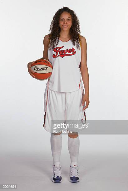 Leigh Aziz of the Indiana Fever poses for a portrait during WNBA Media Day on May 6 2003 in Indianapolis Indiana NOTE TO USER User expressly...