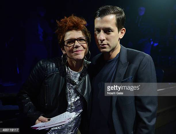 Leigh Blake and Mark Ronson speak at the Other Ball fundraiser sponsored by Topshop Topman for Arms Around the Child at the Highline Ballroom on...