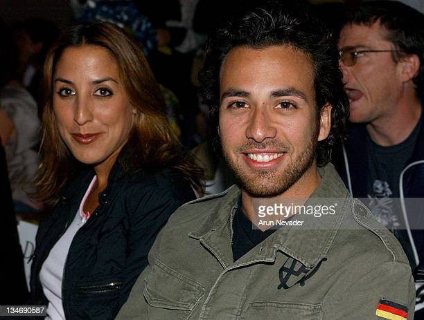 Leigh Boniello and Howie Dorough during MercedesBenz Shows LA Shawn Front Row at The Standard Downtown LA in Los Angeles California United States