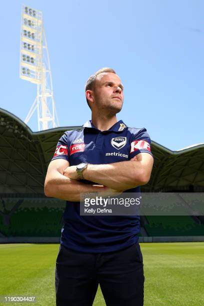 Leigh Broxham of the Melbourne Victory poses ahead of his 300th ALeague game at AAMI Park on November 27 2019 in Melbourne Australia