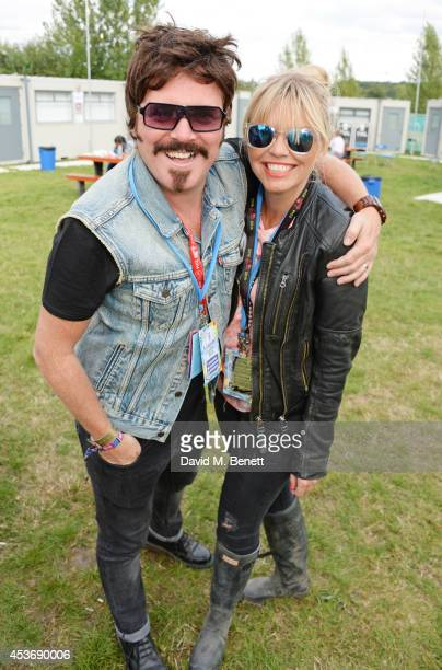 Leigh Francis aka Keith Lemon and guest attend the Mahiki Rum Bar for the launch of the Mahiki Rum Family backstage during day 1 of the V Festival...
