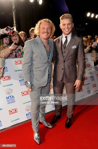 Leigh Francis aka Keith Lemon and Jeff Brazier attend the National Television Awards at the 02 Arena on January 22 2014 in London England