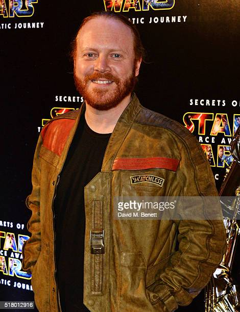 Leigh Francis aka Keith Lemon attend the UK Gala Screening of 'Secrets Of The Force Awakens A Cinematic Journey' at Picturehouse Central on March 29...