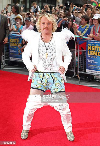 Leigh Francis aka Keith Lemon attends the World Premiere of Keith Lemon: The Film at Odeon West End on August 20, 2012 in London, England.