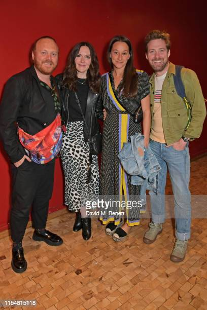 """Leigh Francis aka Keith Lemon, Jill Carter, Grace Zito and Ricky Wilson attend the press night after party for """"Jesus Christ Superstar"""" at The..."""