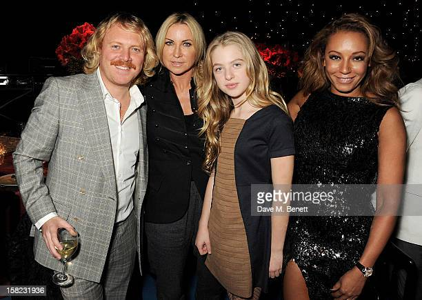 Leigh Francis aka Keith Lemon Meg Mathews Anais Gallagher and Melanie Brown attend an after party celebrating the Gala Press Night performance of...
