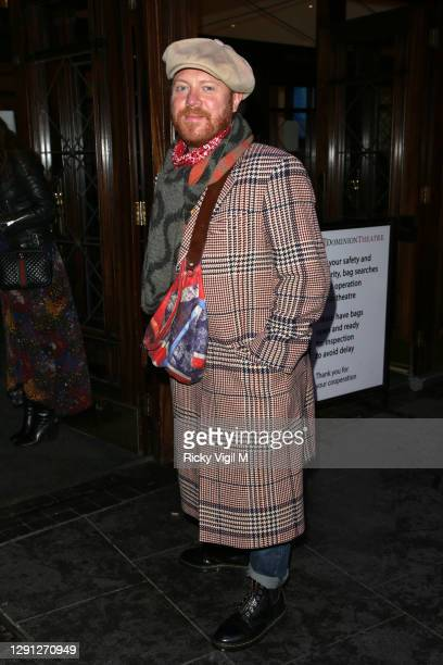 """Leigh Francis aka Keith Lemon seen attending the """"A Christmas Carol"""" opening night at the Dominion Theatre on December 14, 2020 in London, England."""