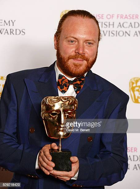 Leigh Francis aka Keith Lemon winner of the Entertainment Performance award for 'Celebrity Juice' poses in the winners room at the House Of Fraser...