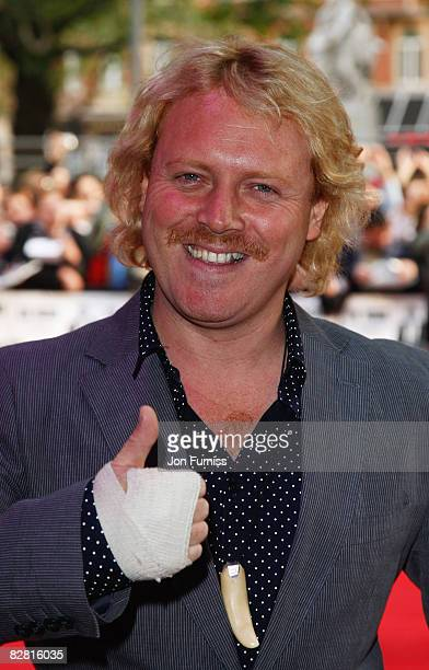 Leigh Francis attends the UK Premiere of 'Righteous Kill' held at the Empire Leicester Square on September 14 2008 in London England