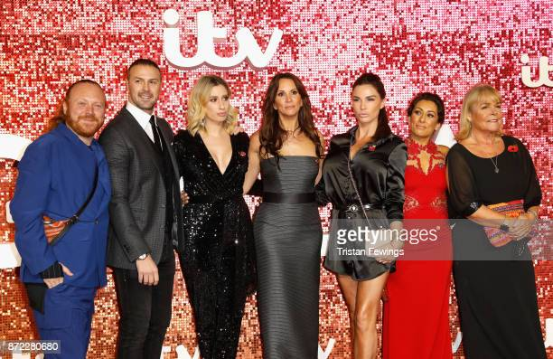 Leigh Francis Paddy McGuinness Stacey Solomon Andrea McLean Katie Price Saira Khan and Linda Robson arriving at the ITV Gala held at the London...