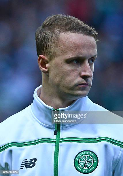 Leigh Griffiths of Celtic in action during the UEFA Champions League Qualifying play off first leg match between Celtic FC and Malmo FF at Celtic...