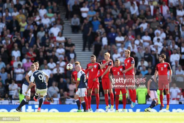 Leigh Griffiths of Scotland scores a goal to make the score 21 during the FIFA 2018 World Cup Qualifier between Scotland and England at Hampden Park...
