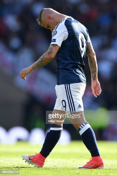 Leigh Griffiths of Scotland walks off dejected after the FIFA 2018 World Cup Qualifier between Scotland and England at Hampden Park National Stadium...