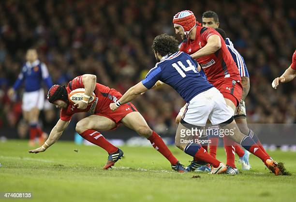 Leigh Halfpenny of Wales holds onto the ball during the RBS Six Nations match between Wales and France at the Millennium Stadium on February 21 2014...