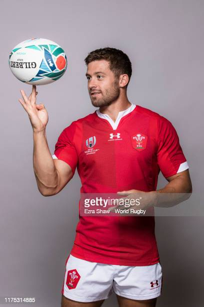 Leigh Halfpenny of Wales poses for a portrait during the Wales Rugby World Cup 2019 squad photo call on on September 17, 2019 in Kitakyushu, Fukuoka,...