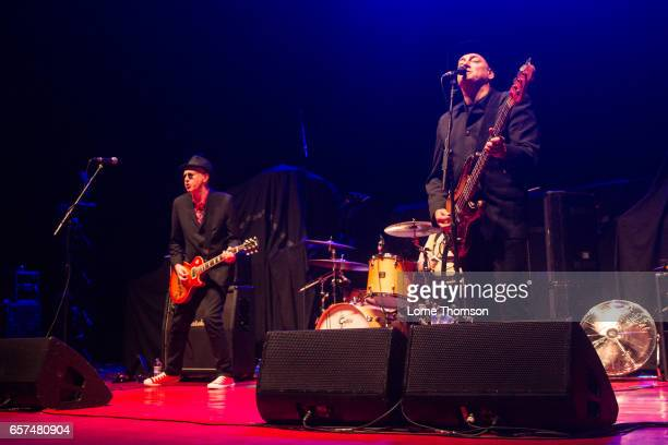 Leigh Heggarty and John 'Segs' Jennings of Ruts DC perform at Brixton Academy on March 24 2017 in London United Kingdom