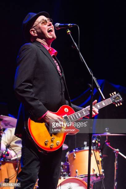 Leigh Heggarty of Ruts DC performs at Brixton Academy on March 24 2017 in London United Kingdom