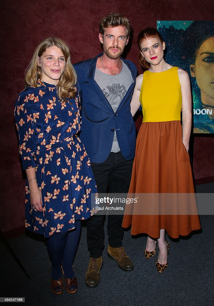 Leigh Janiak, Harry Treadaway and Rose Leslie attend the Los Angeles premiere of 'Honeymoon' at the Landmark Theater on August 26, 2014 in Los Angeles, California.