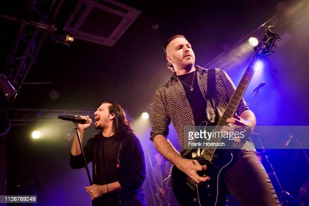 Leigh Kakaty and Nick Fuelling of Pop Evil perform live on stage during a concert at the Frannz on February 22 2019 in Berlin Germany