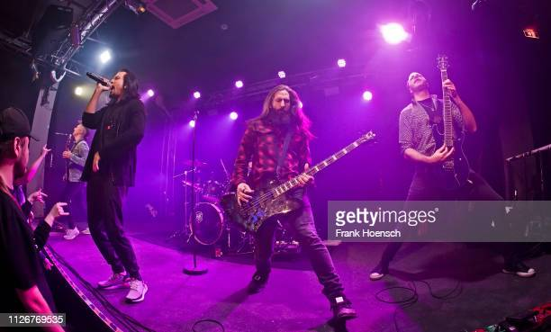Leigh Kakaty Matt DiRito and Nick Fuelling of Pop Evil perform live on stage during a concert at the Frannz on February 22 2019 in Berlin Germany