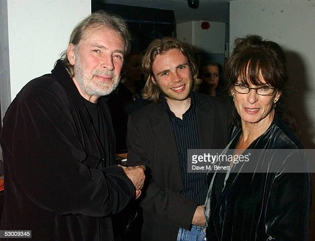 Leigh Lawson Ace Lawson and Norma Heyman attend the after party for the Guys And Dolls press night at the Meza restaurant on June 1 2005 in London...