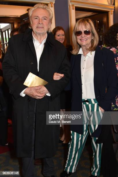 Leigh Lawson and Twiggy arrive at the press night performance of 'Consent' at the Harold Pinter Theatre on May 29 2018 in London England