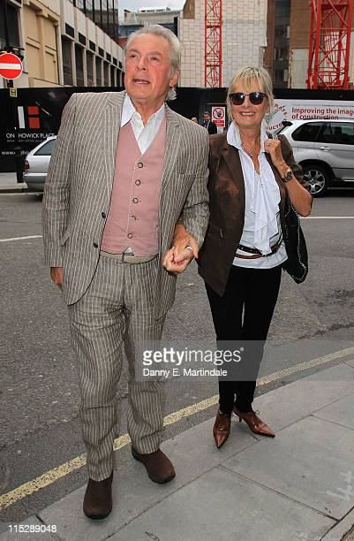 Leigh Lawson and Twiggy attend the book launch of 'Linda McCartney Life In Photographs' at Phillips de Pury And Company on June 6 2011 in London...