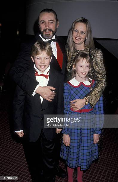 Leigh Lawson and Twiggy Lawson with their children Jason 'Ace' Lawson and Carly Lawson