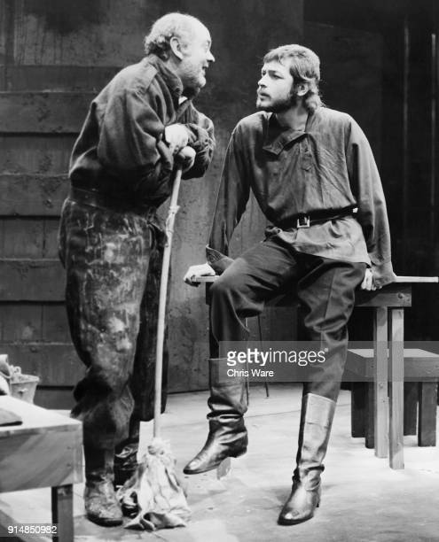 Leigh Lawson as Yanek and James Berwick as Foka, during a rehearsal for the play 'The Price of Justice', based on the work 'Les Justes', or 'The Just...