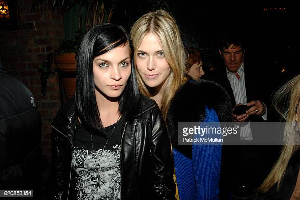 Leigh Lezark and Byrdie Bell attend THE CINEMA SOCIETY LINDA WELLS host the after party for SMART PEOPLE at Bowery Hotel on March 31 2008 in New York...
