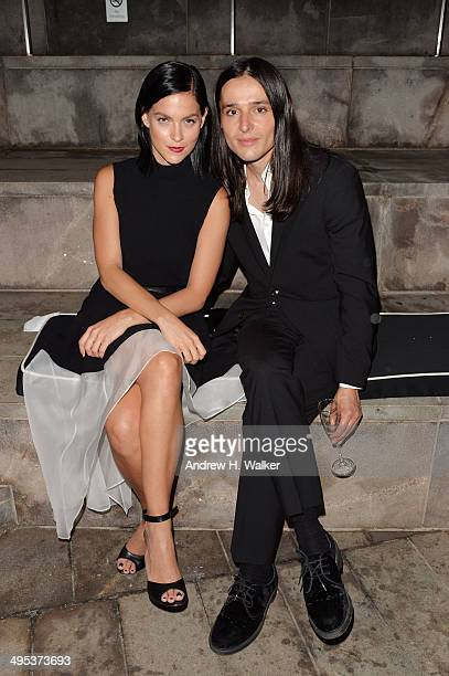 Leigh Lezark and designer Olivier Theyskens attend the 2014 CFDA Fashion Awards at Alice Tully Hall, Lincoln Center on June 2, 2014 in New York City.
