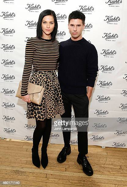 Leigh Lezark and Geordon Nicol attend Kiehl's with Norman Rockwell and feeding America Charitable Holiday Partnership celebration at Kiehl's Since...