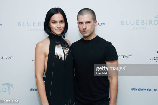 Leigh Lezark and Geordon Nicol attend the Bluebird London New York City launch party at Bluebird London on September 5 2018 in New York City