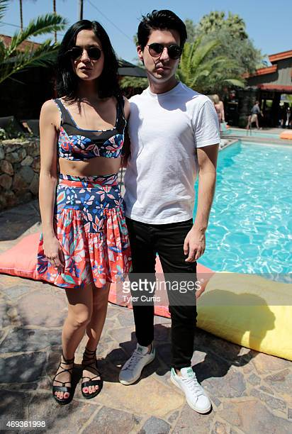Leigh Lezark and Geordon Nicol of The Misshapes attend The Retreat At The Sparrows Lodge on April 11, 2015 in Palm Springs, California.