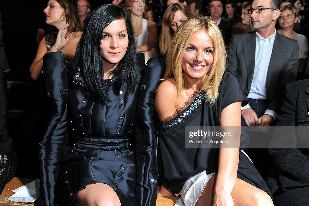 Leigh Lezark and Geri Halliwell attend the Viktor & Rolf Ready to Wear Spring/Summer 2011 show during Paris Fashion Week at Espace Ephemere Tuileries on October 2, 2010 in Paris, France.