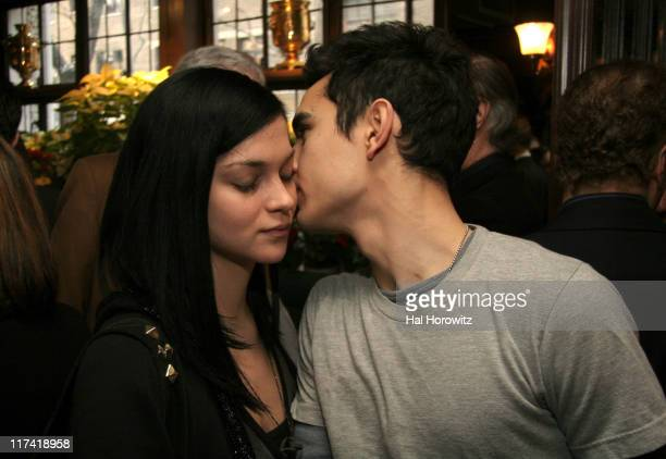 Leigh Lezark and Max Minghella during A Lunch in Celebration of Breaking and Entering at CAFE DES ARTISTES in New York City New York United States