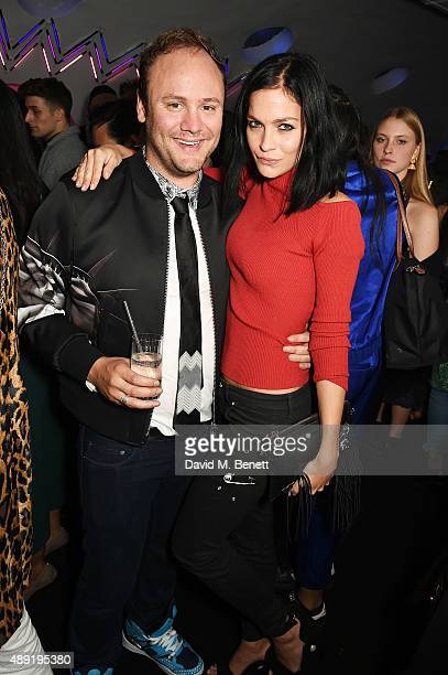 Leigh Lezark and Nicholas Kirkwood attend Nicholas Kirkwood 10 year collection Launch and Party during London Fashion Week on September 19 2015 in...
