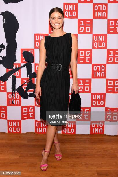 UNIQLO Leigh Lezark and Nina Agdal Celebrate Store Opening with VIP Event at Hudson Yards NYC on March 14 2019 in New York City