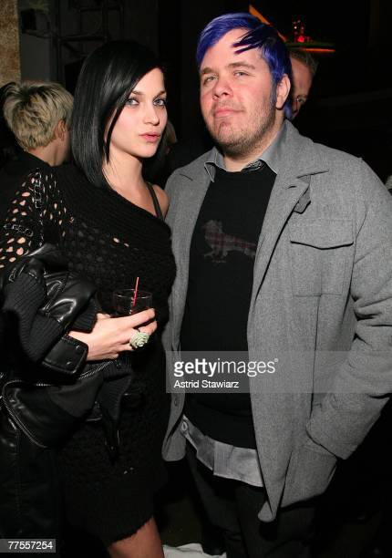 Leigh Lezark and Perez Hilton pose for photos at Paper Magazine's third annual nightlife awards held at Spotlight Live on October 29, 2007 in New...