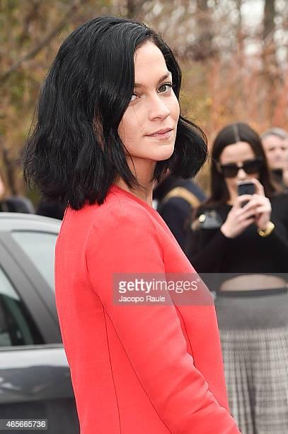 Leigh Lezark arrives at Giambattista Valli Fashion Show during Paris Fashion Week Fall Winter 2015/2016 on March 9 2015 in Paris France