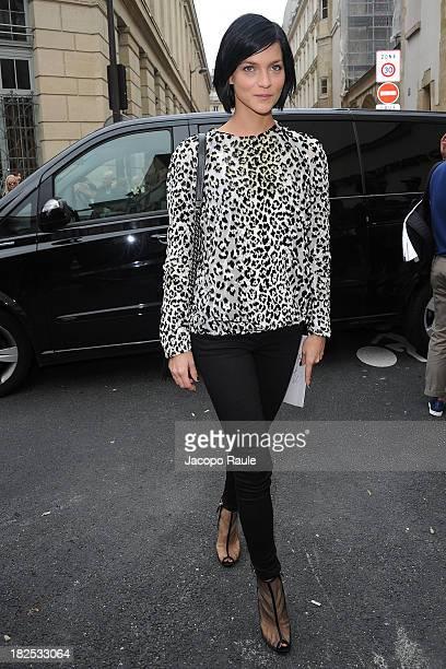 Leigh Lezark arrives at Giambattista Valli Feshion Show during Paris Fashion Week Womenswear SS14 Day 7 on September 30 2013 in Paris France