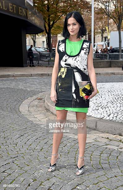 Leigh Lezark arrives at the Miu Miu Fashion Show during the Paris Fashion Week S/S 2016 Day Nine on October 7 2015 in Paris France