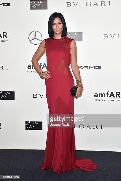 Leigh Lezark attends amfAR Milano 2014 during Milan Fashion Week Womenswear Spring/Summer 2015 on September 20 2014 in Milan Italy