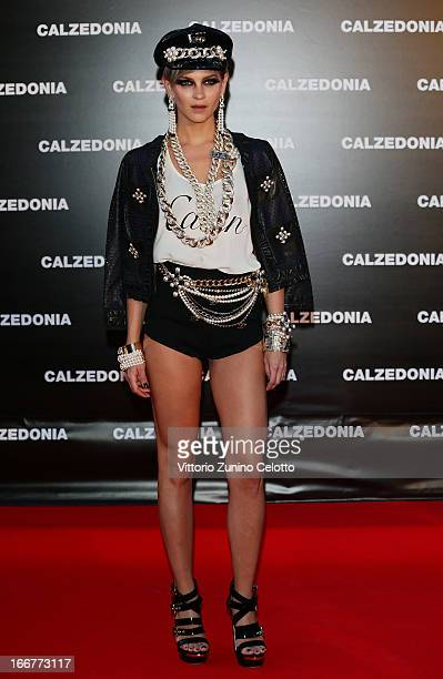 Leigh Lezark attends Calzedonia Summer Show Forever Together on April 16 2013 in Rimini Italy
